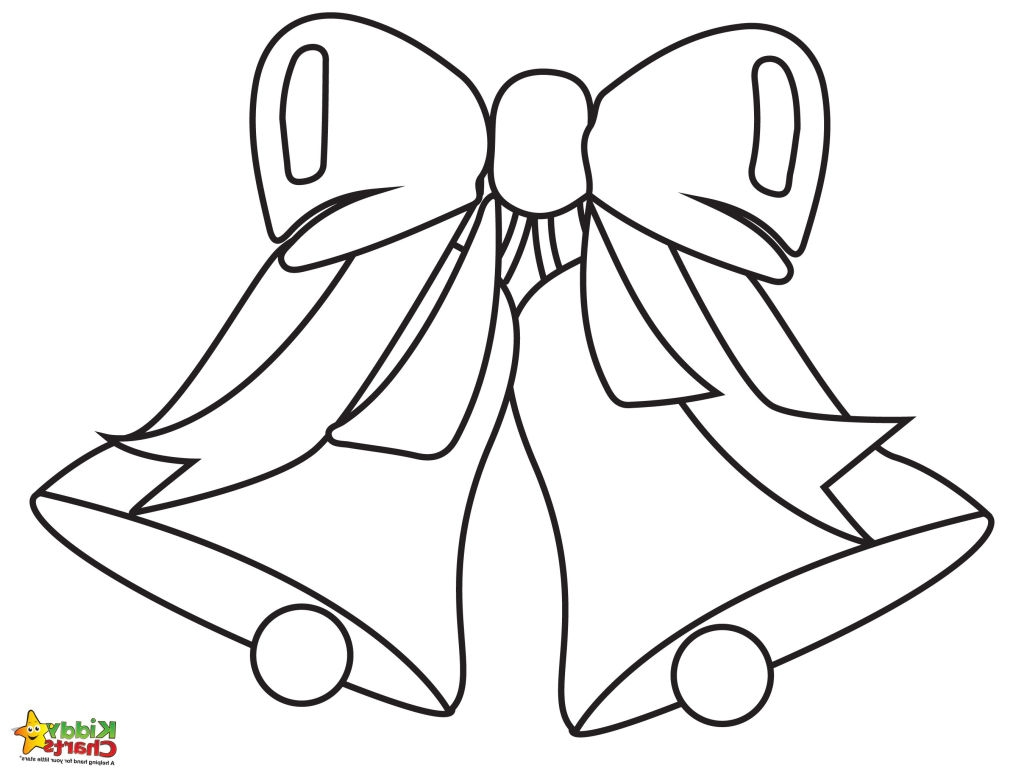 mistletoe coloring pages - christmas bells coloring pages