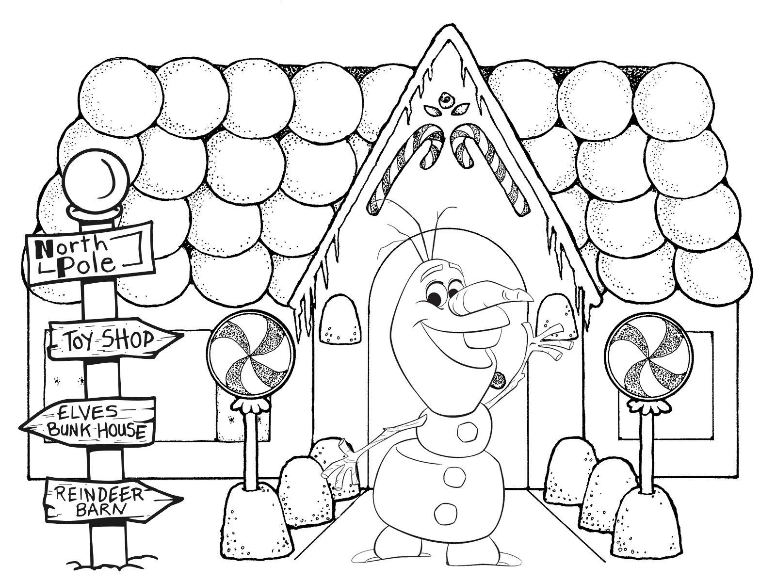 mistletoe coloring pages - free christmas coloring pages frozen