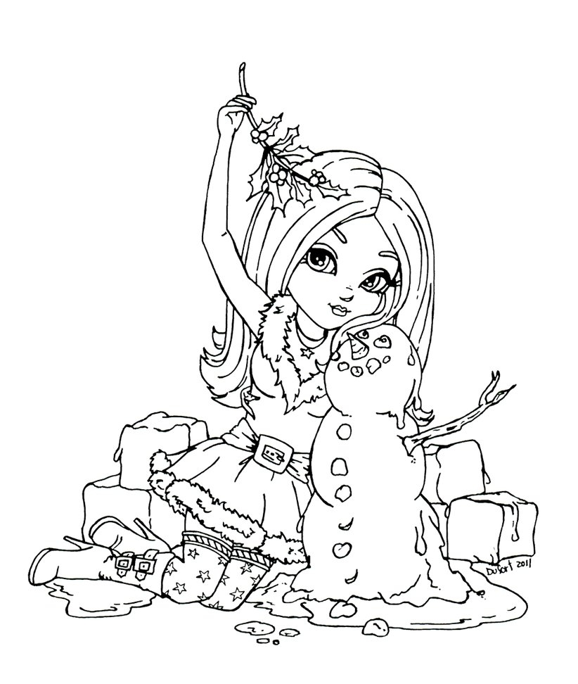 mistletoe coloring pages - Mistletoes Meltdown