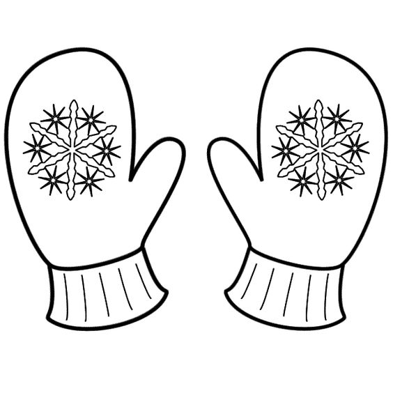 mitten coloring page -