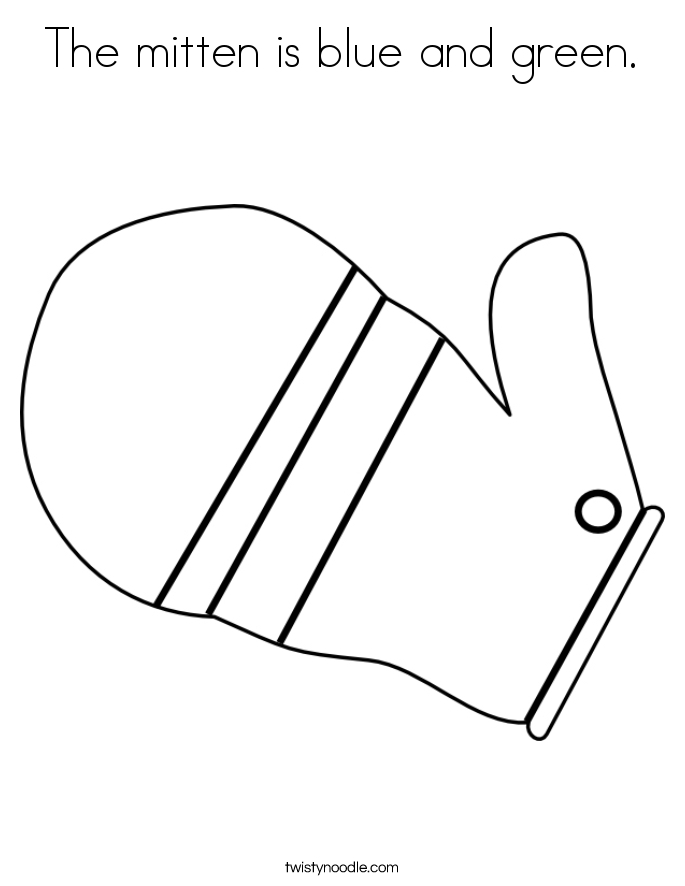 mitten coloring page - the mitten characters