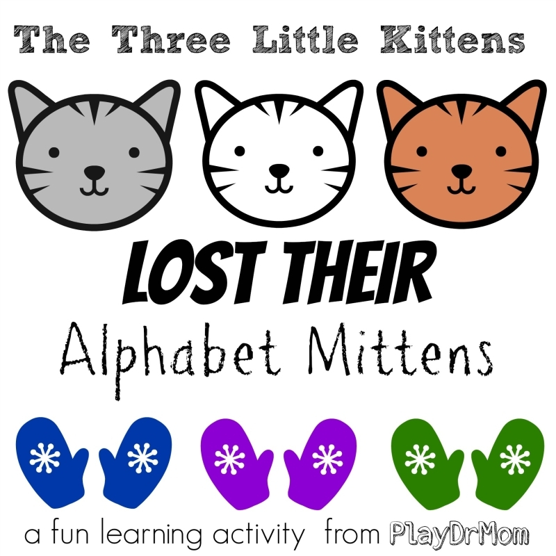 mitten coloring page - three little kittens lost alphabet mittens virtual book club kids featuring paul galdone