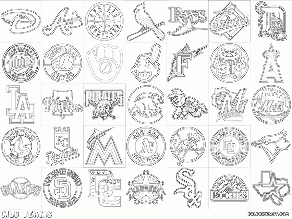mlb coloring pages - coloring pages baseball coloring pages