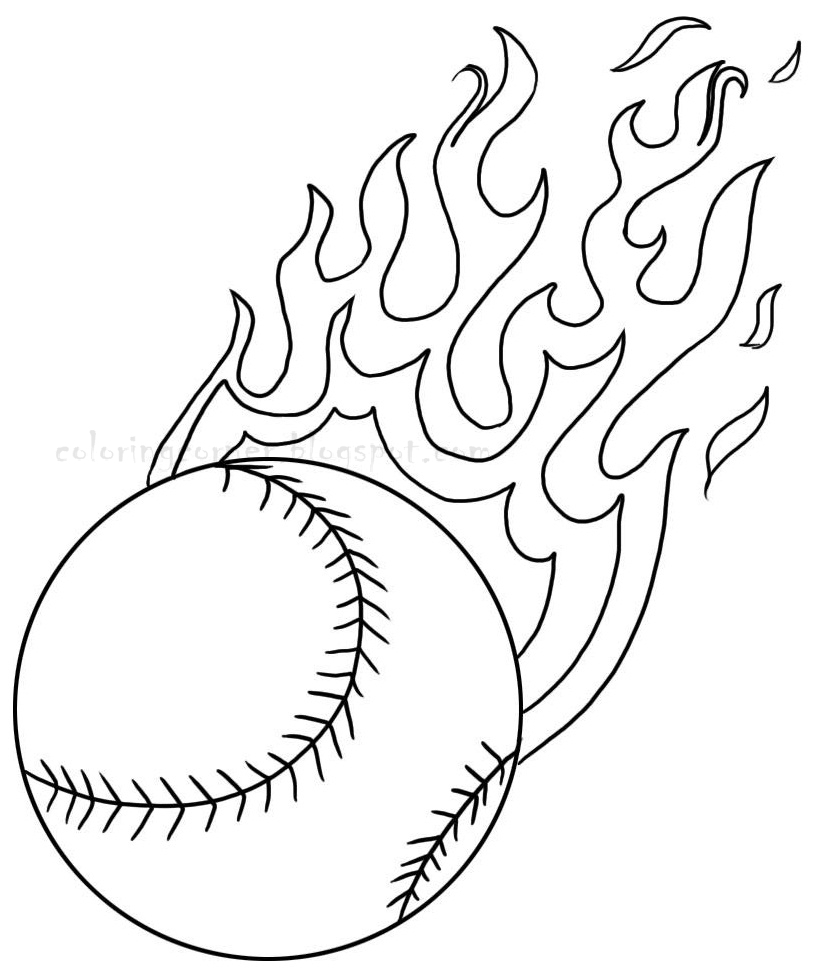 mlb coloring pages - baseball coloring pages
