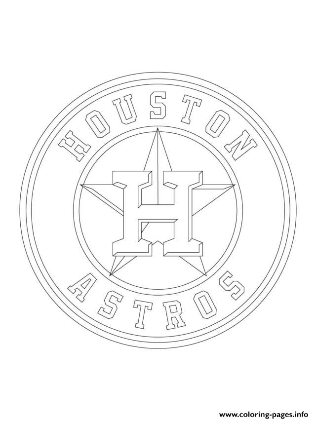 mlb coloring pages - houston astros logo mlb baseball sport printable coloring pages book