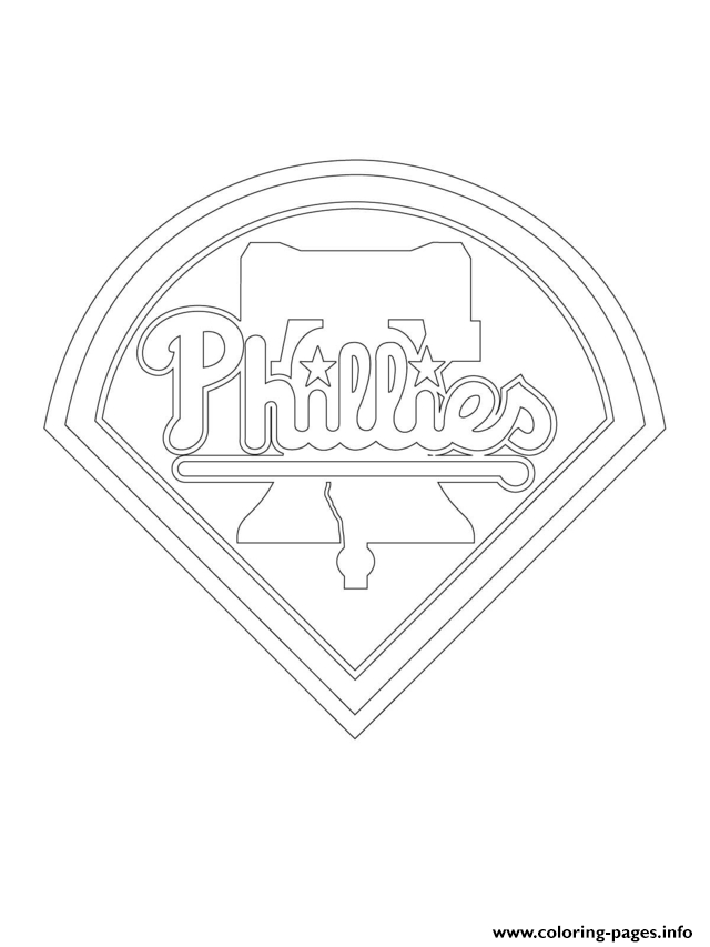 mlb coloring pages - philadelphia phillies logo mlb baseball sport printable coloring pages book