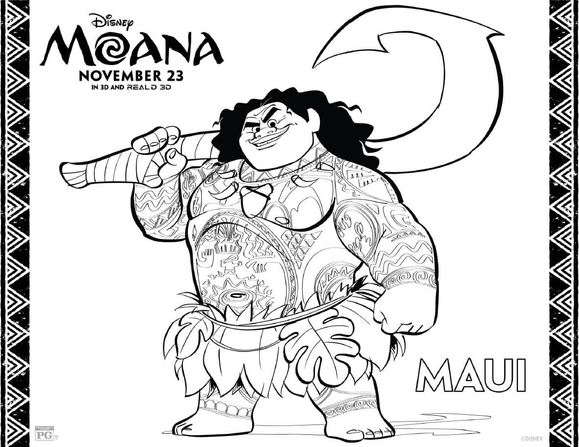 moana color pages - moana coloring pages