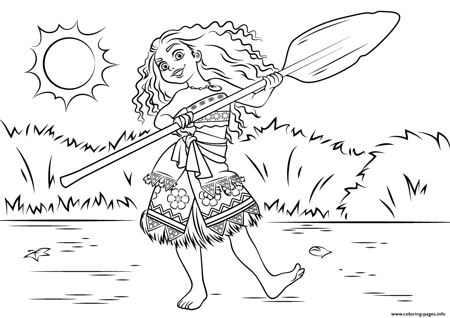 moana color pages - princess moana waialiki disney printable coloring pages book