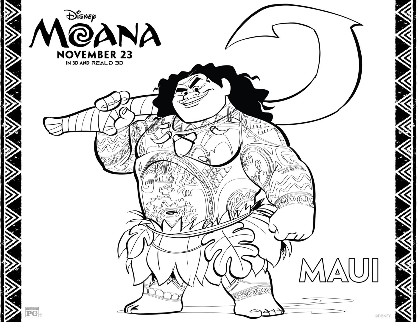 moana coloring pages free - disneys moana free coloring pages activity sheets printables