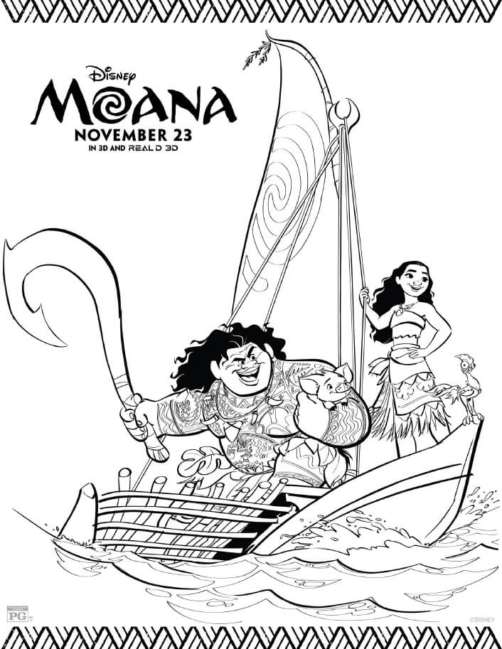 moana coloring pages free - moana coloring pages
