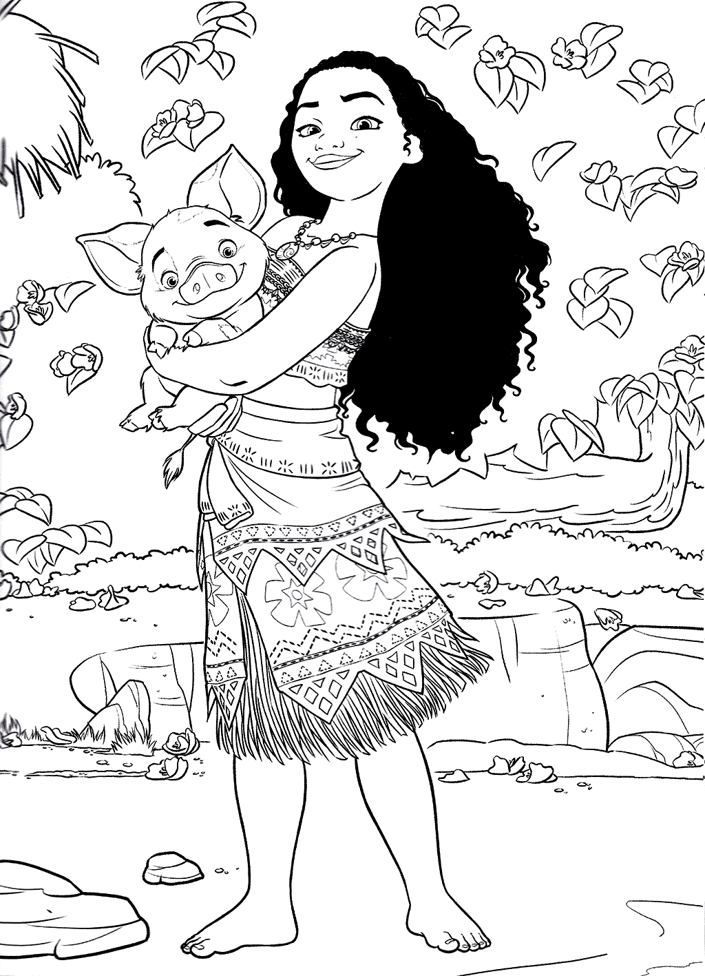 moana coloring pages free -