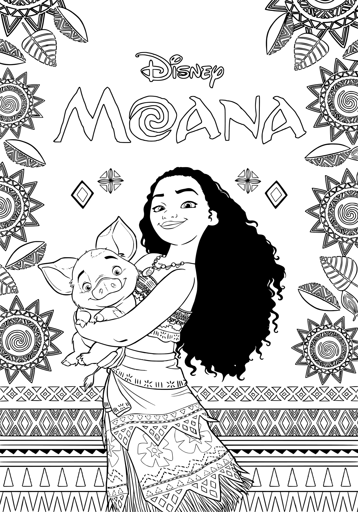 Moana free coloring pages moana coloring pages