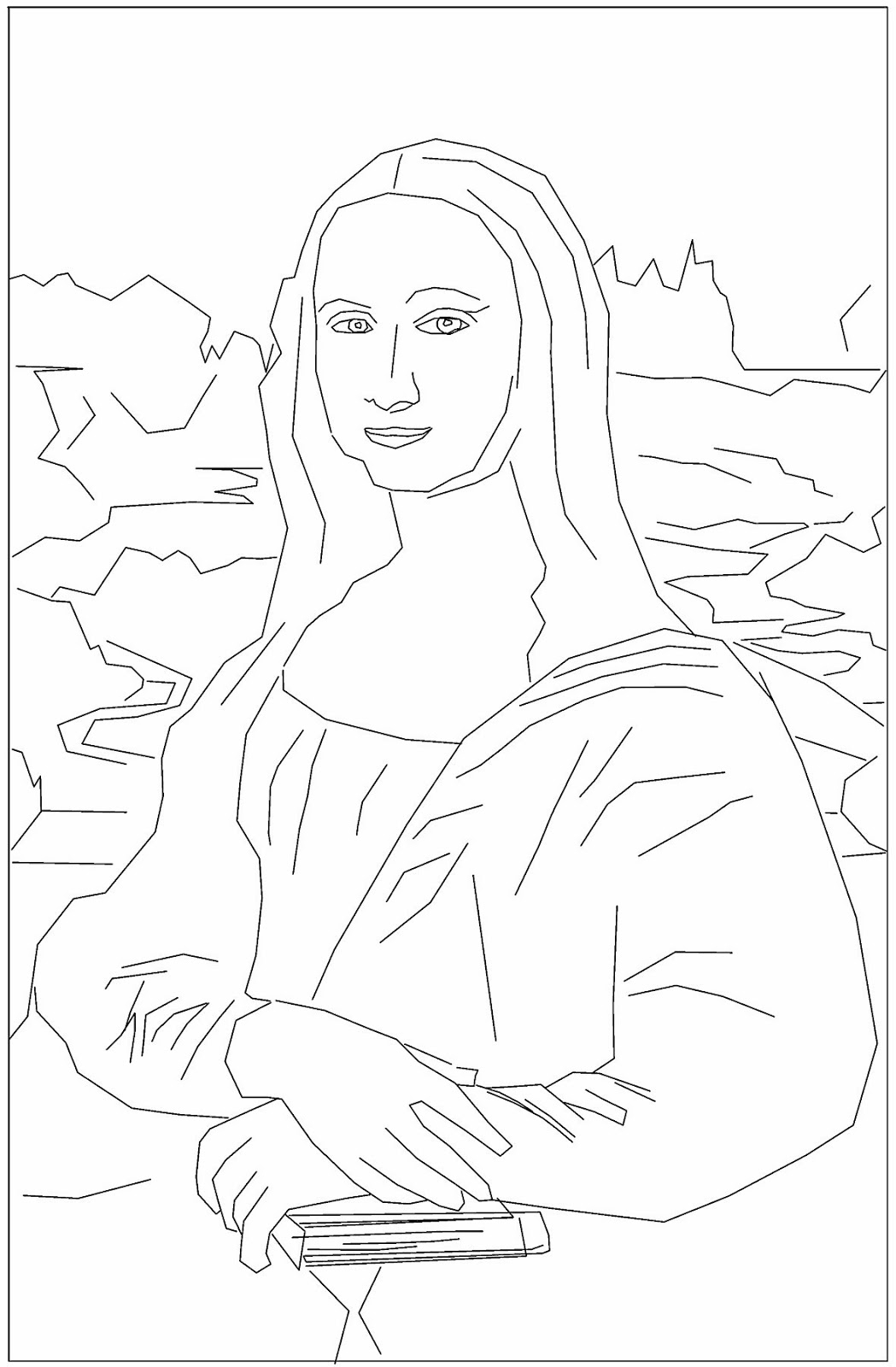 23 Mona Lisa Coloring Page Pictures   FREE COLORING PAGES - Part 3