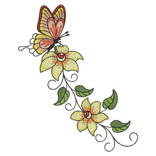 Monarch butterfly Coloring Page - butterfly Flower Border Embroidery Designs Machine