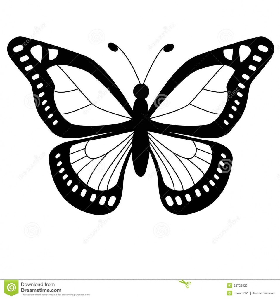 monarch butterfly coloring page - free clipart butterfly outline