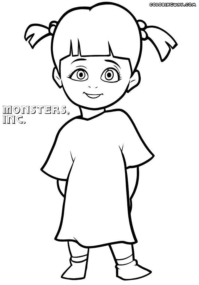 monsters inc coloring pages - boo from monsters inc coloring sketch templates