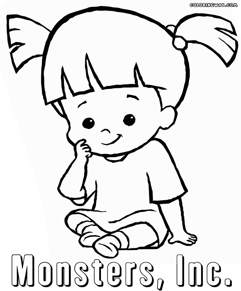monsters inc coloring pages - coloring pages monsters inc