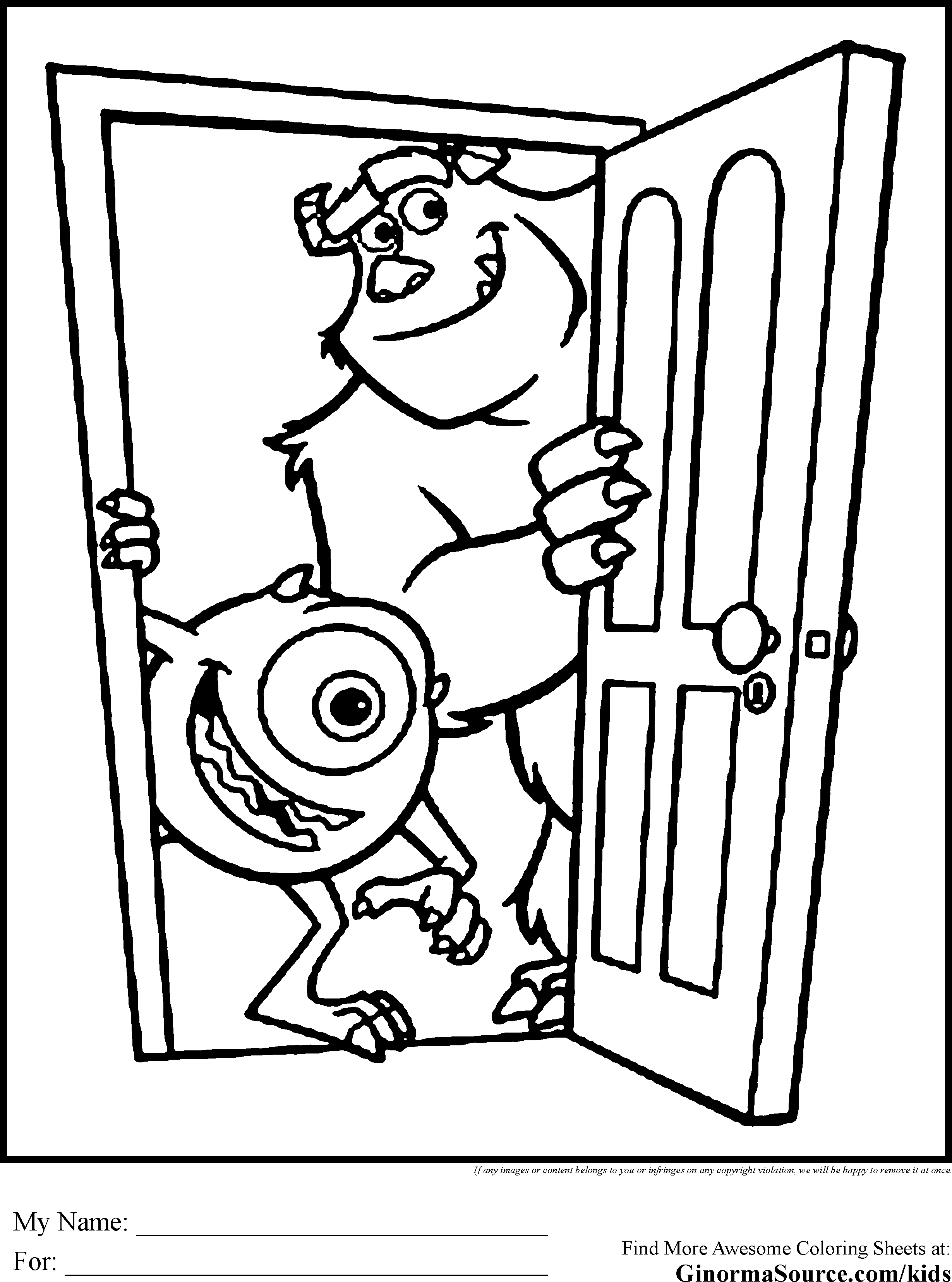20 Monsters Inc Coloring Pages Printable | FREE COLORING PAGES - Part 3