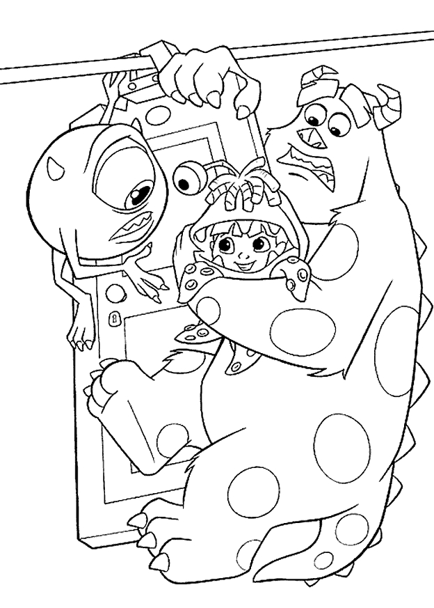 Monsters Inc Coloring Pages - Monsters Inc Coloring Pages Coloringpages1001