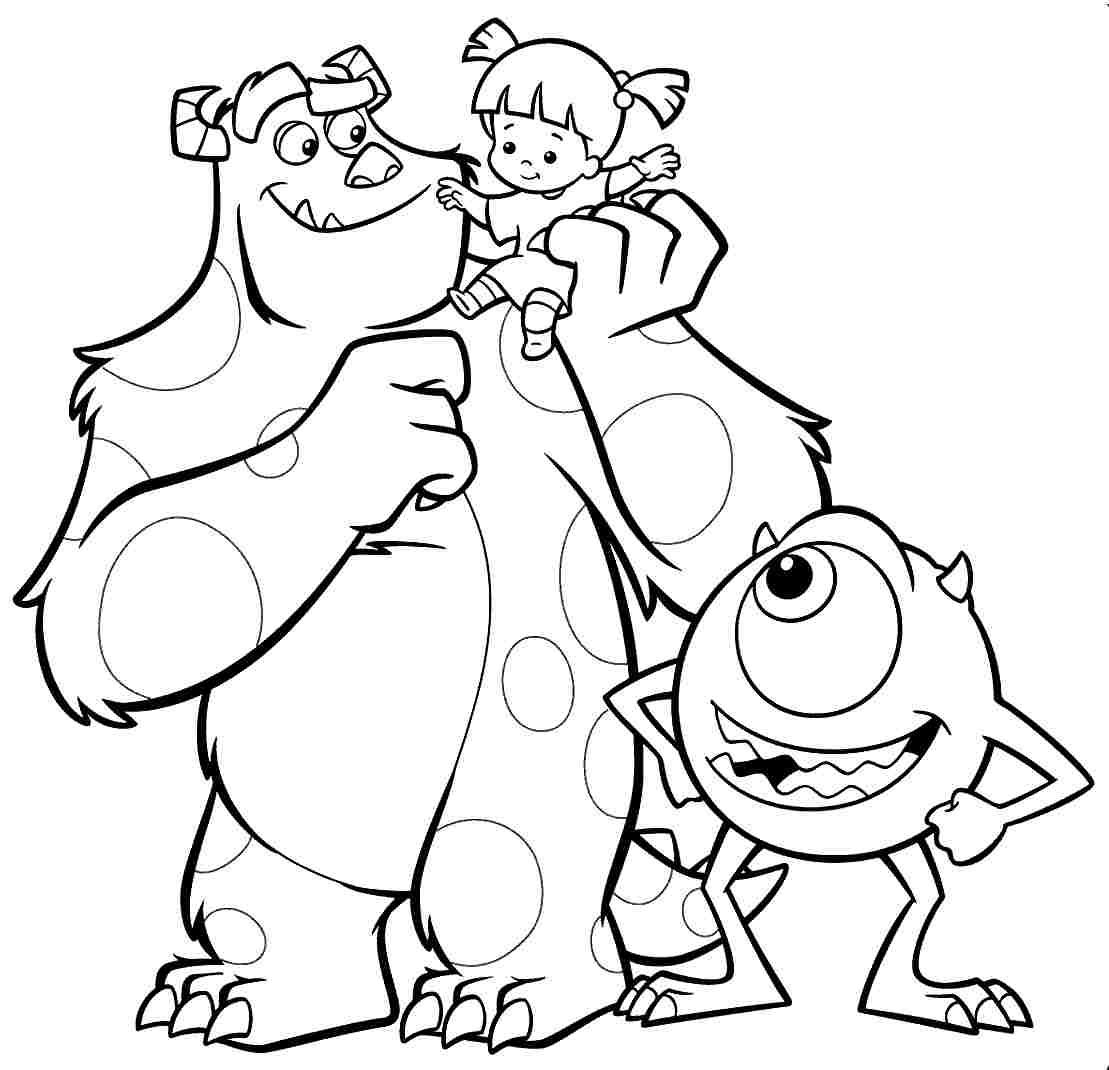 monsters inc coloring pages - monsters inc coloring pages