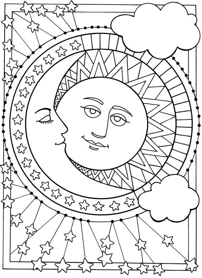 moon and stars coloring pages - r=sun moon and stars