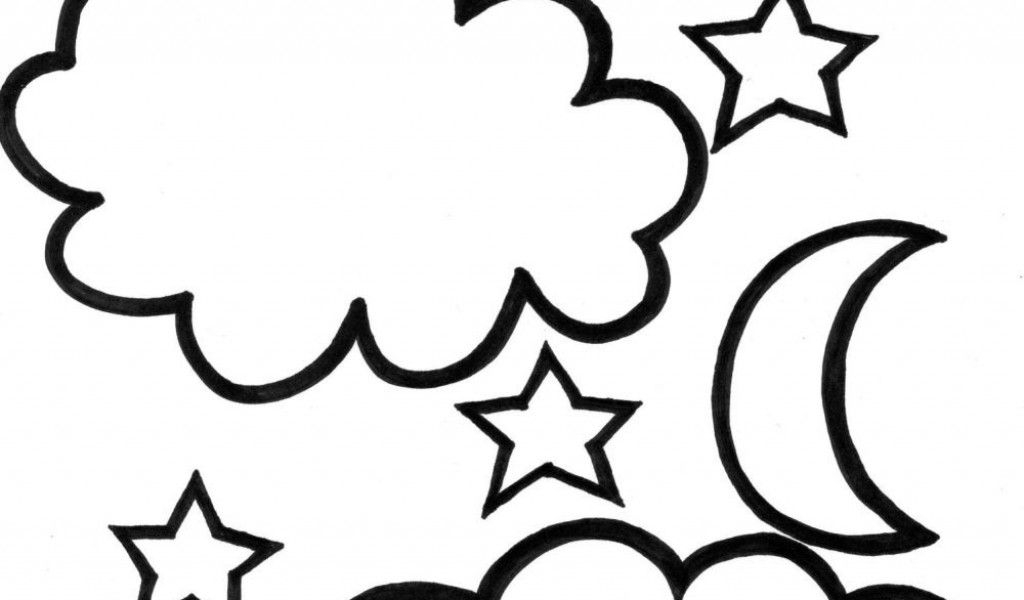 moon and stars coloring pages - moon and stars coloring pages printable