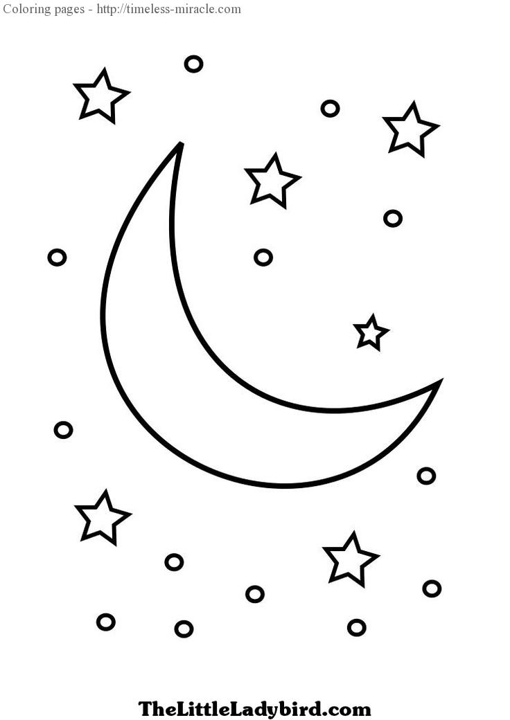 moon and stars coloring pages - moon and stars coloring pages