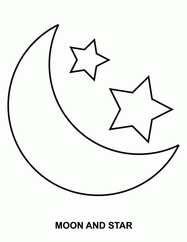moon and stars coloring pages - sun and moon coloring pages