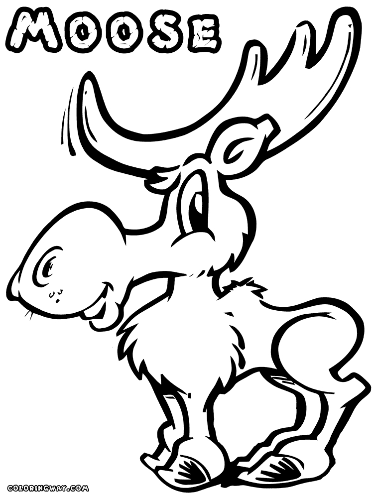 moose coloring pages - astronaut moose online coloring page