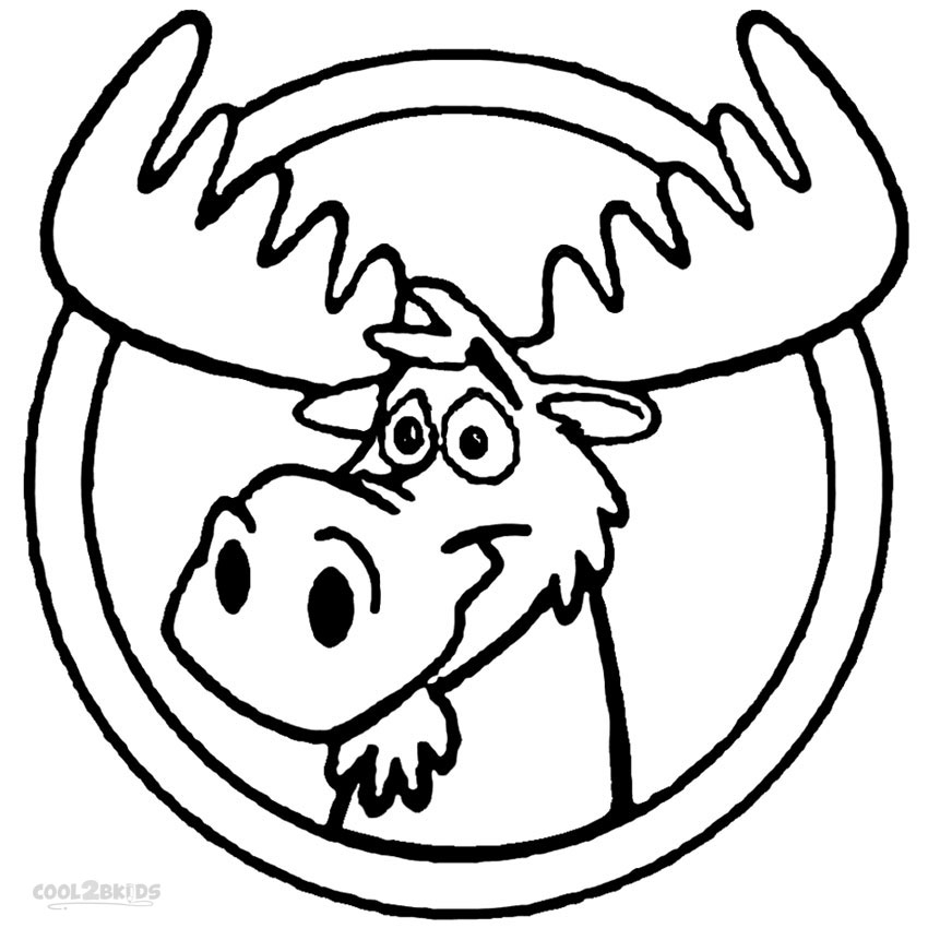 moose coloring pages - moose coloring pages