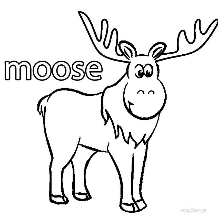 Moose Coloring Pages - Printable Moose Coloring Pages for Kids