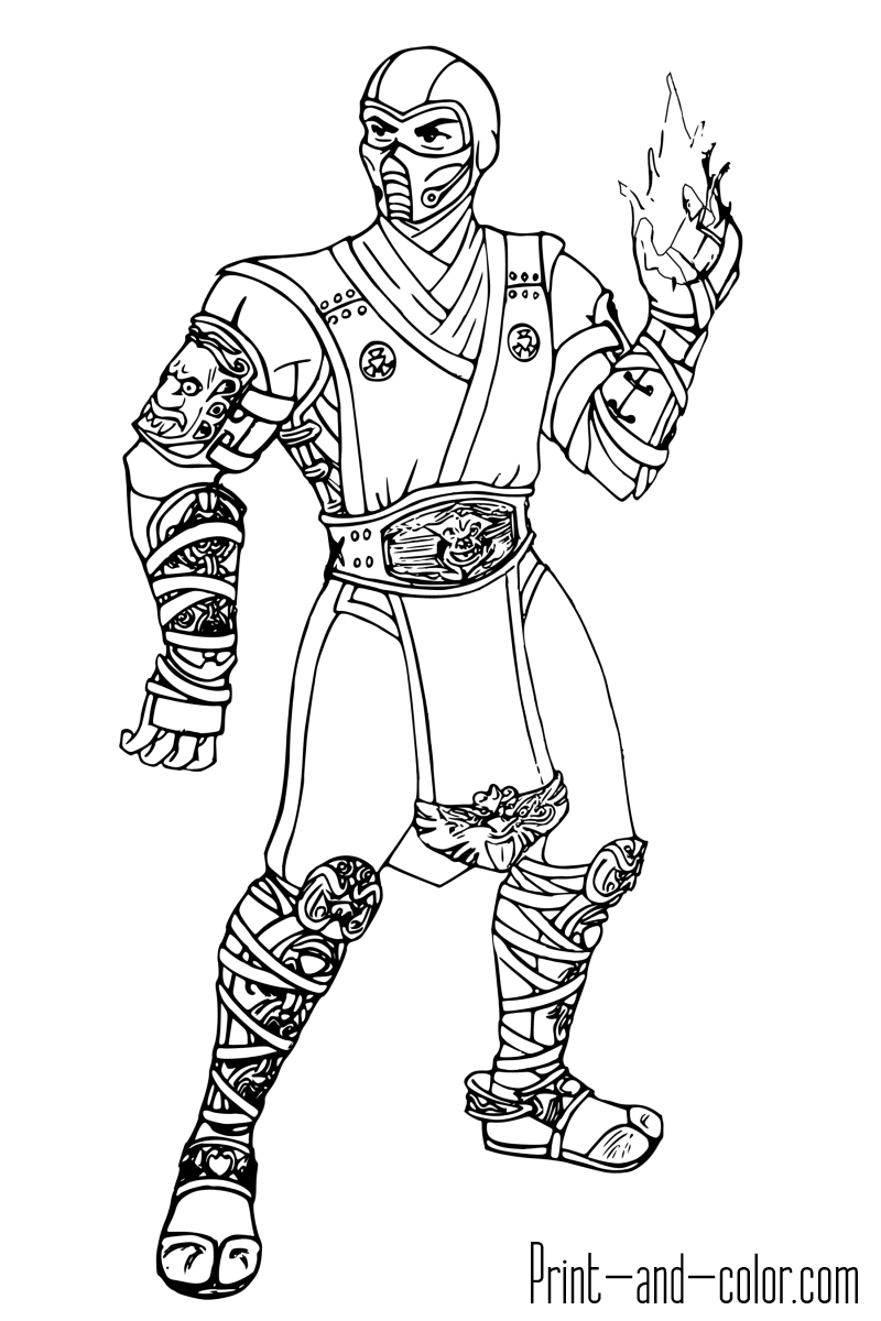 mortal kombat coloring pages - coloring pages of mortal kombat 3 sketch templates