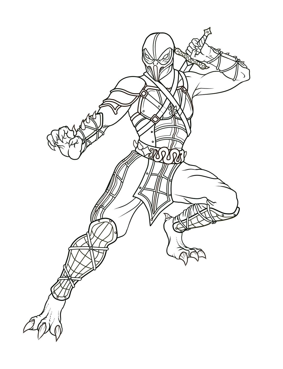 Mortal Kombat Coloring Pages - Free Printable Mortal Kombat Coloring Pages for Kids