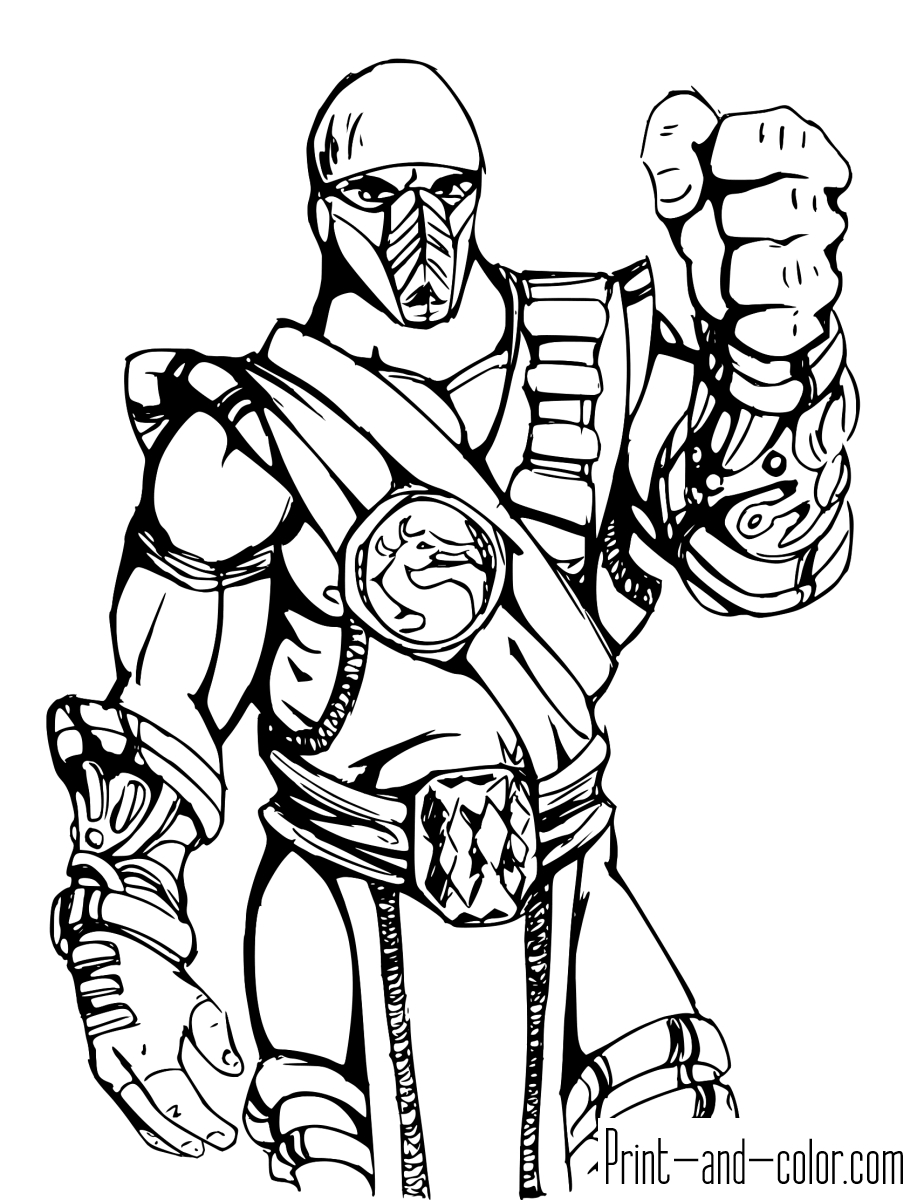 20 Mortal Kombat Coloring Pages Printable | FREE COLORING PAGES - Part 2