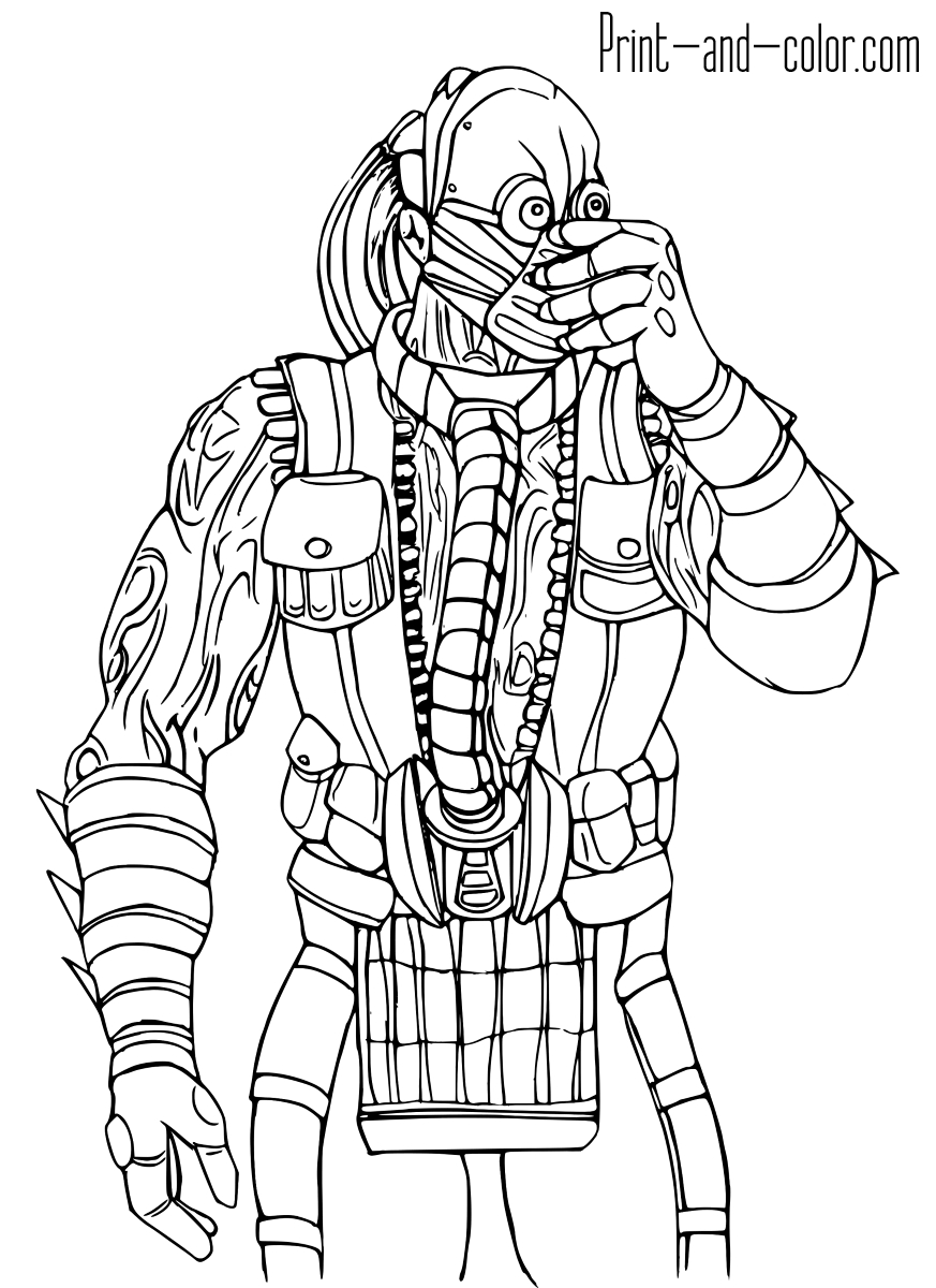 Mortal Kombat Coloring Pages - Mortal Kombat Coloring Pages