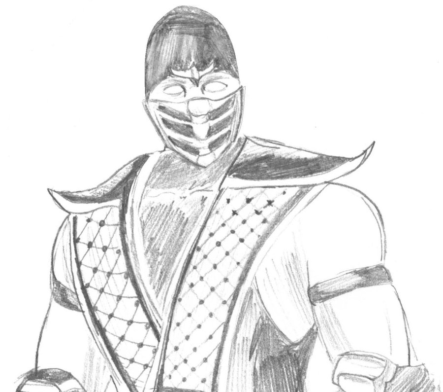 mortal kombat coloring pages - coloring pages of scorpion mortal kombat