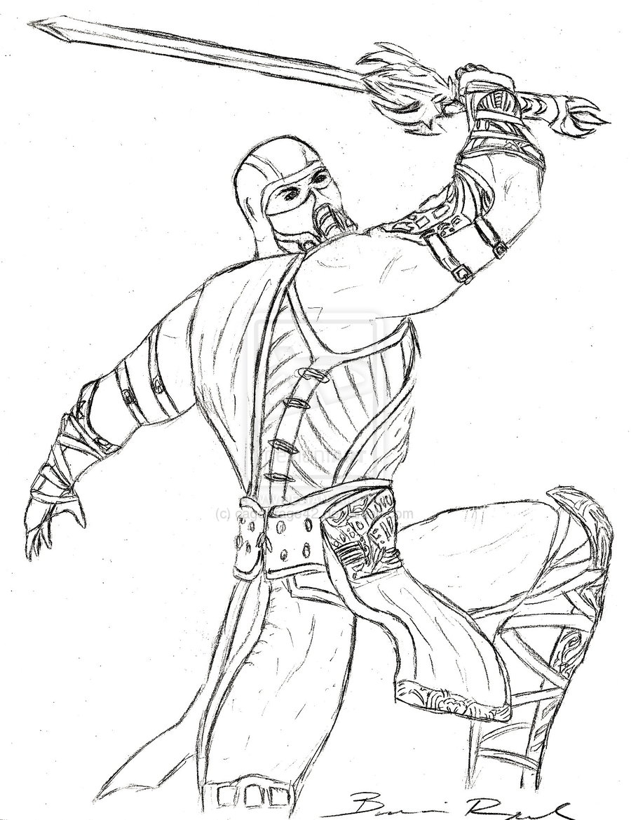 mortal kombat coloring pages - mortal kombat coloring pages sketch templates
