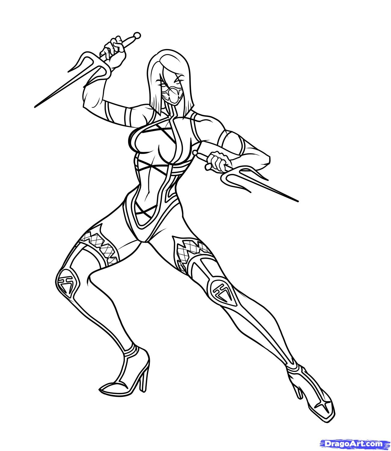 mortal kombat coloring pages - mortal kombat