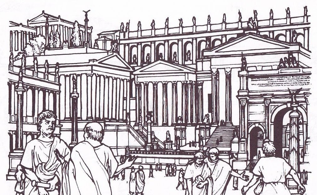 mosaic coloring pages - rome urbs 03