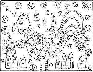 mosaic coloring pages -