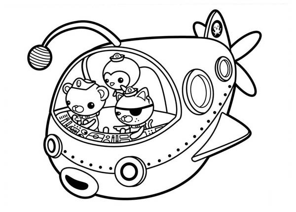 mosaic coloring pages - the fun adventures of the octonauts coloring page