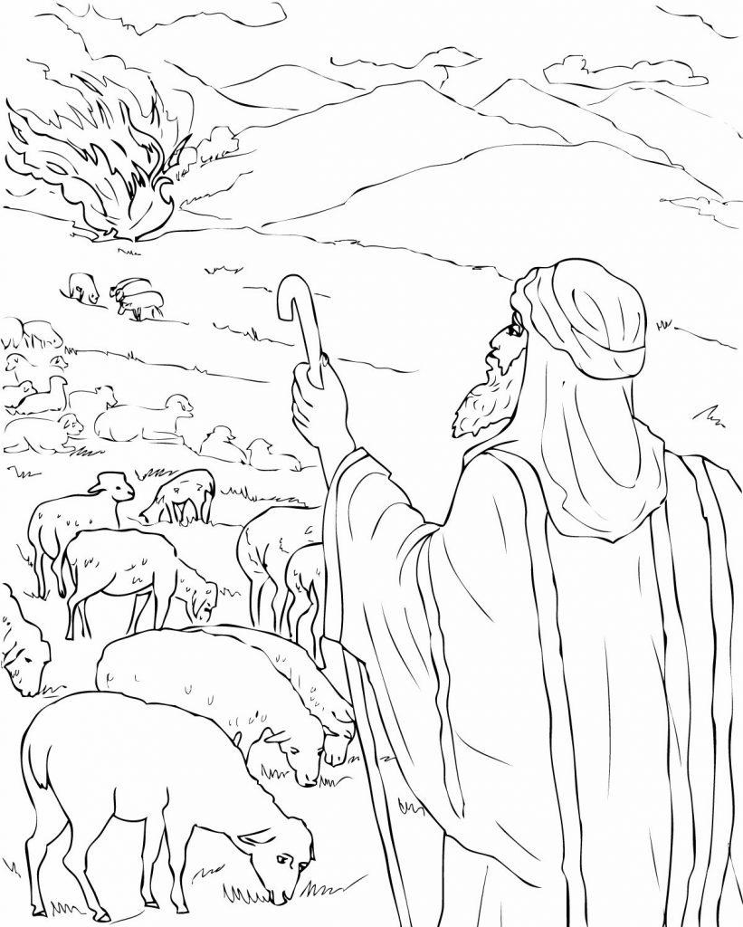 25 Moses and the Burning Bush Coloring Page Images | FREE COLORING PAGES