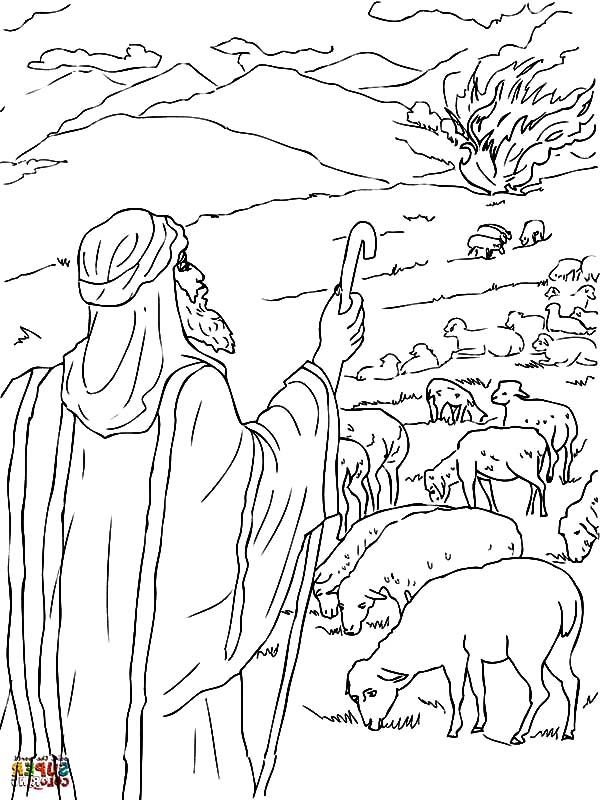 moses and the burning bush coloring page - free android coloring moses and the burning bush coloring pages with coloring pages moses burning bush to see the full size version