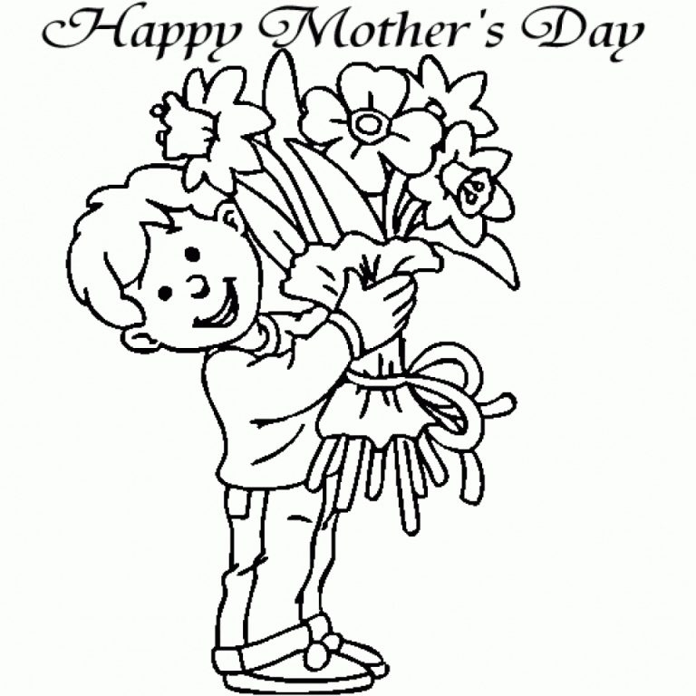 mother's day printable coloring pages - 6618
