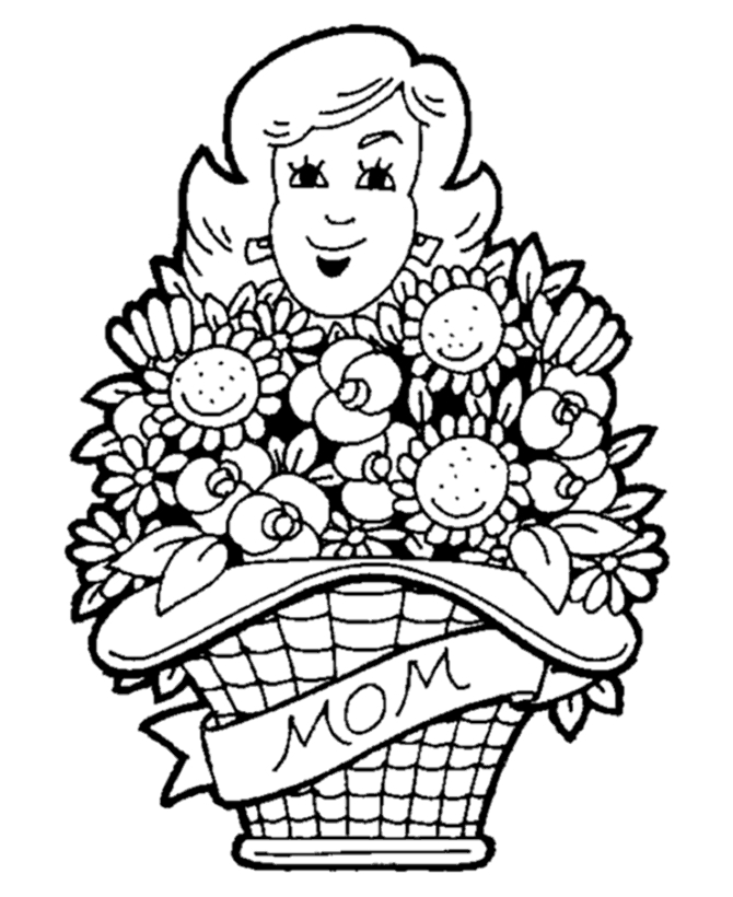 mother's day printable coloring pages -