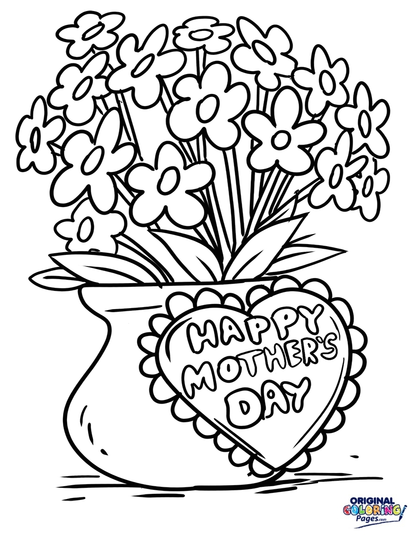 mothers day coloring pages - mothers day
