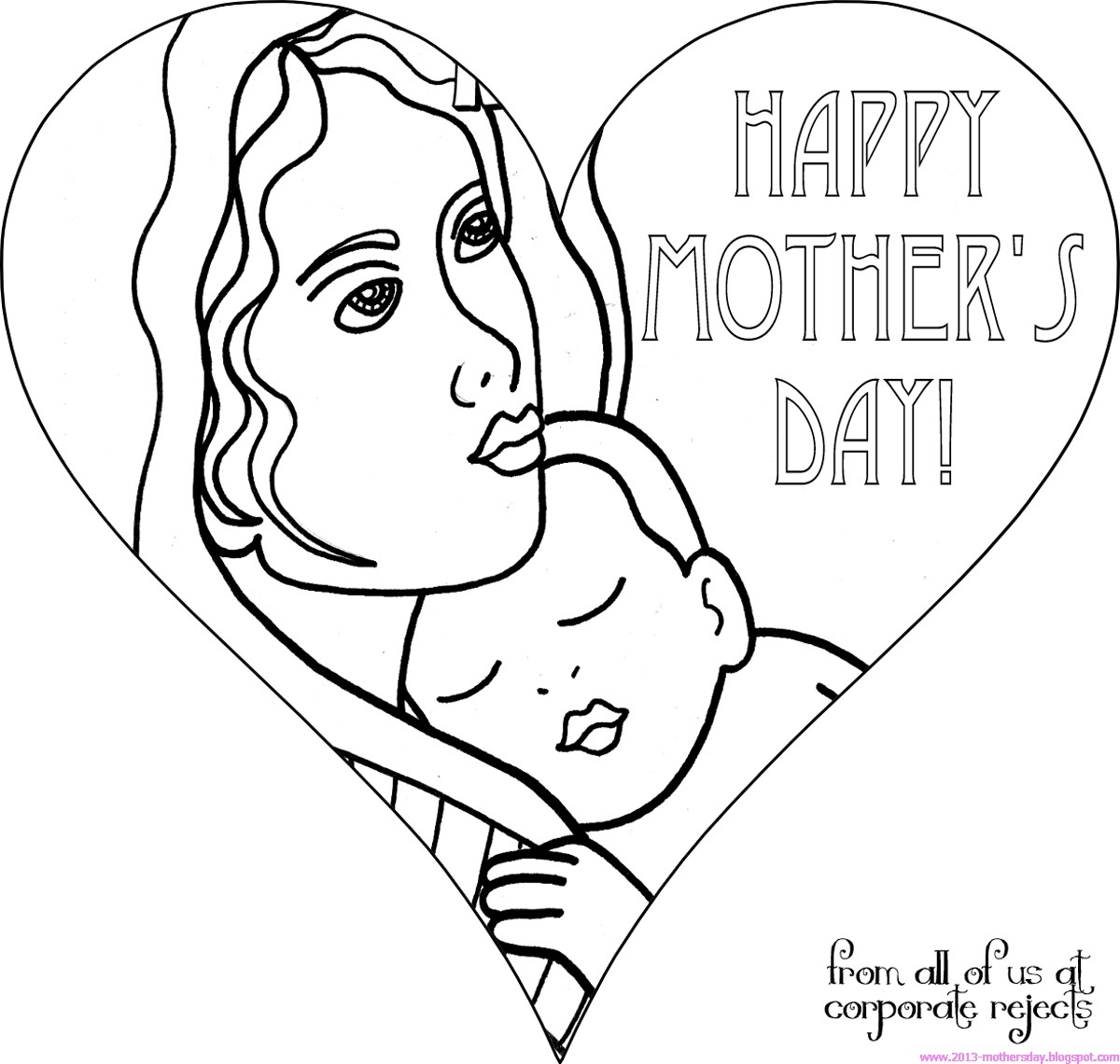 mothers day coloring pages - happy mothers day coloring pages