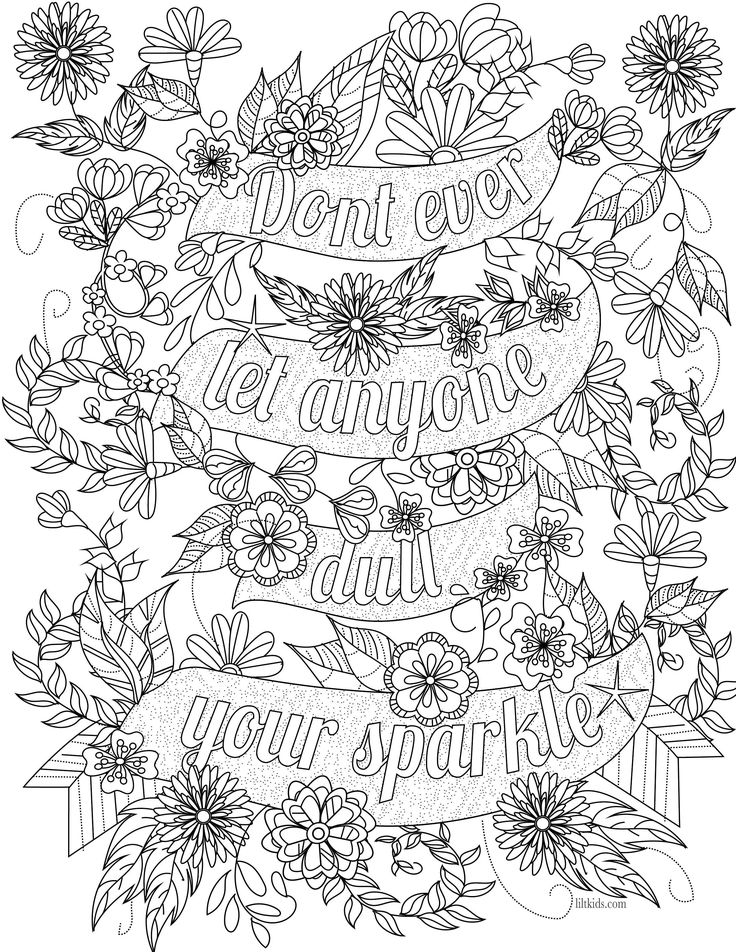 Motivational Coloring Pages - 25 Unique Quote Coloring Pages Ideas On Pinterest