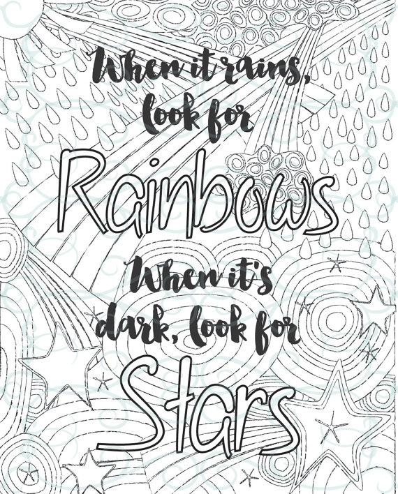 motivational coloring pages - adult inspirational coloring page