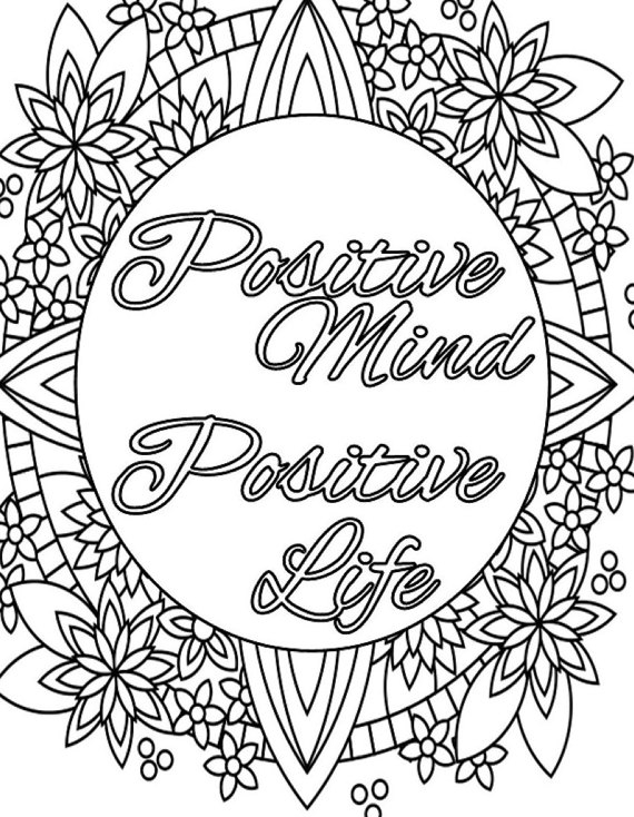 motivational coloring pages - inspirational quotes to color